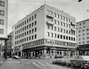 Berstadhuset i Strandgaten 17. Foto fra rundt 1980. Fotograf: Ukjent. Arkivet etter Morgeneavisen A/S, Bergen Byarkiv.