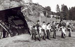 Mathismarkens Bataljon. Udatert foto. Fotograf: Ukjent. Arkivet etter Morgenavisen A/S, Bergen Byarkiv.