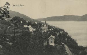 Parti fra Arna. Postkort fra tidlig 1900-tall. Fotograf: Ukjent. Arkivet etter Arne Fabrikker, Bergen Byarkiv.