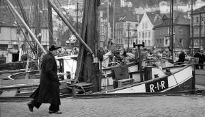 Striler er fra gammelt av navn på befolkningen i de nærmeste distriktene rundt Bergen, de har til alle tider preget torghandelen i byen. Fotograf: Norvall Skreien