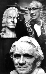 Sofus Madsens skulpturmuseum.  Oppkalt etter billedhuggeren Sofus Madsen (1881-1977) i 1961. Her fra hans atelier som nå er museum.  Fotograf: Norvall Skreien.