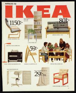 Forsiden til IKEA-katalogen 1983. IKEA etablerte seg i Bergen i 1984. Fra arkivet etter Morgenavisen AS, Bergen Byarkiv.