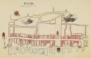 Strandgaten utviklet seg fra 1300-tallets landlige preg, og ble med tiden byens viktigste handlegate.