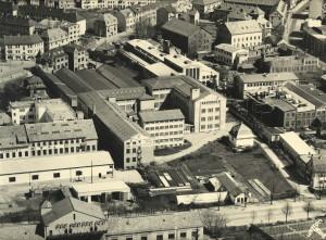 Trengeried Fabrikker i Solheimsviken ble grunnlagt av Johan Jebsen i 1895. Fotograf: Norvin. Arkivet etter Trengereid Fabrikker AS, Bergen Byarkiv.