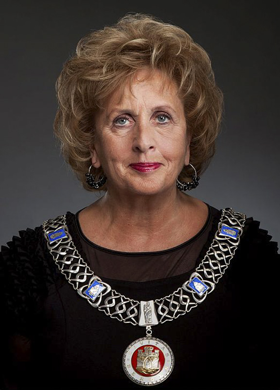 Trude Drevland. Ordfører i Bergen. Fotograf: Hans Jørgen Brun.