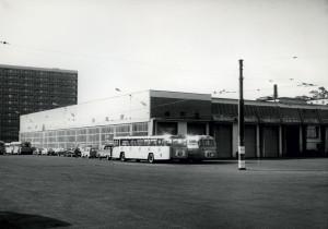 Bergen sporveis garasjeanlegg på Mannsverk.
