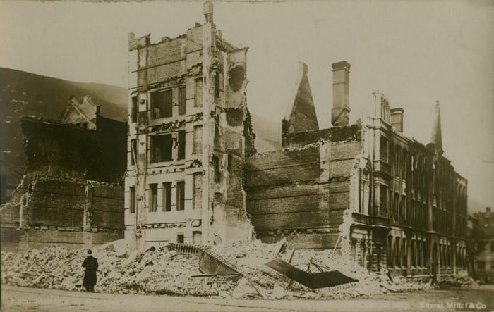 Bergensbrannen, brannen i bergen 1916