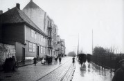 Øvregaten asyl omkring 1900. Ukjent fotograf. Fra arkivet etter Reguleringsvesenet.