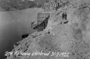 Havnekontorets foto av Kollevåg steinbrudd, 31. mars 1922. Ukjent fotograf.