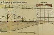 Havneingeniørens arbeidstegning av Dokkeskjærskaien, mai 1916