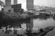 Havnekontorets foto av Torvhallkaien 1923. Ukjent fotograf.