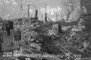 Havnekontorets foto av kaiutvidelse på Festningskaien i 1923. Ukjent fotograf.