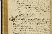 Fattighusets egen historiebok fra 1750 som her omhandler Sjøtønnen