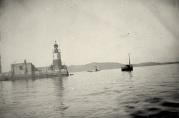Havnekontorets foto av Molofyret først på 1900-tallet. Fotograf ukjent.