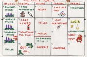 Månedsplan for desember. Årstall ukjent.