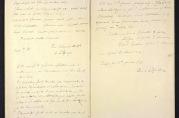 Tilsynsutvalgets protokollinnførsler fra 1890-årene.
