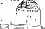 Tegning på forsiden av barnehagens årsplan (1991-1992)