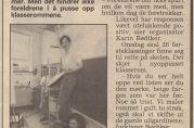 Kronstad skole har flere ganger vært truet av nedleggelse. Avisreportasje i BA 14. august 1994. Fra skolens arkiv.