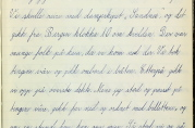 Side fra bok med skolestiler fra 1946. En stiloppgave med tittelen: Min lengste tur, hadde nok for mange barn i dag heller vært ensbetydende med Syden enn med Stavanger. Arkivet etter Minde skole.