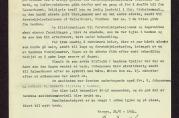 Rapport fra sanitetsleder ved Bergen Sparebank datert 24. april. 1944. Omhandler eksplosjonsulykken på Bryggen 20. april 1944.