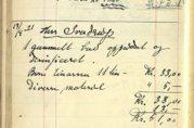 Snekkerkalkulasjon 1920-1923. Fra arkivet etter Knag, Christoffer og Alf (BBA A-1790)