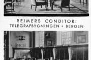 Prospektkort med motiv fra Reimers Conditori.