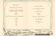 Meny fra middag i Logen ved åpningen av Bergensbanen, november 1909.