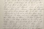Utsnitt av side i bygningskommisjonens forhandlingsprotokoll. I møte 22.desember 1898 behandlet kommisjonen en byggemelding for Veiten 6. Eieren, Alvilda Michelsen, ønsket å rive det gamle huset på tomten for å oppføre et fireetasjes murhus. Arkivet etter Bygningssjefen (A-0430).