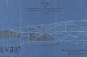 Kart over forlengelse av vannledning i hovedveien til Fjøsanger med inntegnede brakker og uthusbygninger signert Bergens vand- og kloakværen 16.januar 1917, Ralph Wilson. Arkivet etter Rådmannen for 2. avdeling. (A-0160).