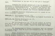 Skjønn over en del eiendommer på Slettebakken i forbindelse med fremføring av Vilhelm Bjerknesvei på strekningen Johan Hjortsvei til bygrensen mot Fana. Fra utskrift av rettsbok for Bergen skjønnskommisjon for bygningssaker 20.april 1961. Arkivet etter Skjønnskommisjonen for bygningssaker (A-0175, Ha:86)
