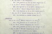 Takster for noen av eiendommene i brannstrøket fra 1916. Fra utskrift av rettsbok for Bergen Skjønnskommisjon for bygningssaker 26. oktober 1917. Arkivet etter Skjønnskommisjonen for bygningssaker (A-0175, Ea:1).