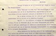 Et firesiders brev fra arkitektene Arnesen og Darre Kaarbø til fasadekomiteen datert 19.02.1919 hvor de uttrykker sin frustrasjon over komiteens behandling av byggesøknaden for Svaneapoteket. Arkivet etter Tilsynsrådet for byens utseende (A-0435, D:3).