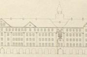 Fasadeoppriss av «Børsgaden». Fra Særtrykk av Georg Greves artikkel i «Kunst og kultur». Arkivet etter Reguleringsvesenet (A-0967, tilvekst u.nr., mappe C5)