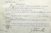 Søknad om tomt, med tilhørende kart, fra D. O. Monstad datert 1. februar 1917. Arkivet etter Reguleringsvesenet (A-0967, Ea:8)