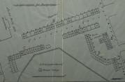Kopi av situasjonsplan for brakkene i Byparken og ved Lille Lungegårdsvann. Uten år og usignert. Arkivet etter Reguleringsvesenet (A-0967, Hl:4).