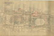Utkast til reguleringsplan for Bergen sentrum datert 22. september 1916 og signert Albert Lilienberg og Georg Greve. Arkivet etter Reguleringsvesenet (A-0967, Tilv.u.nr., mappe merket C5)