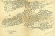 Lilienbergs og Greves helhetlige sentrumsplan. Det nye gatenettet skulle tjene til å knytte sammen hele sentrum på en effektiv måte. Bergens kommuneforhandlinger 1916/17, sak nr. 66.