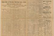 Førstesideartikkel om brannen i Bergens Annonce-Tidende mandag 17.januar 1916. Arkivet etter Reguleringsvesenet (A-0967, Hl:4).