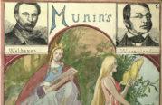 Forsiden til Munins avisprotokoll fra 1902. Avisforsidene var ofte veldig forseggjorte. Klikk på bildet for å se flere forsider. Arkivet etter Munin.