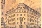 Fasadetegning av Svaneapoteket, udatert tegning, sannsynligvis fra ca. 1917-1918.