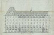 Bergen kommunale folkekjøkken og arbeiderhjem. I dag Hotel Rosenkranz. 1918.